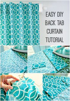 Dans le Lakehouse : DIY Back Tab Curtain Tutorial Step by Step Tutorial for Sewing DIY Back Tab Curtains - Surprisingly Easy! Learn how to make matching tabs from leftover fabric (lots of photos and a video too! Easy Sewing Projects, Sewing Projects For Beginners, Sewing Tutorials, Sewing Hacks, Sewing Crafts, Sewing Patterns, Diy Projects, Sewing Diy, Fabric Sewing