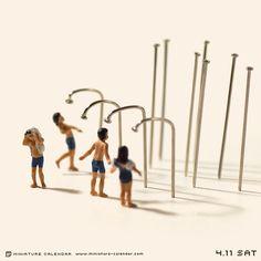 """. 4.11 sat """"Shower"""" . プールの前後はシャワーを浴びるよう釘を刺されています。 ."""