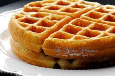 Best Belgian Waffle Recipe - Tastes like Funnel Cake