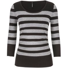 maurices The Pullover With Stripes In Gray Combo (49 BRL) ❤ liked on Polyvore featuring tops, sweaters, shirts, grey, grey striped shirt, grey sweater, gray shirt, ribbed sweater and sleeve shirt