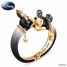 Mickey and Minnie Sparkle On This Disney Timeless Love Bracelet