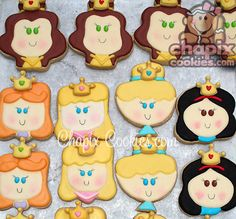i really wish i could make these. disney princess cookies!