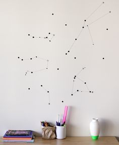 DIY: sticker star wall constellation