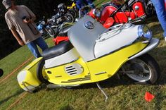 Cezeta scooter with a matching trailer