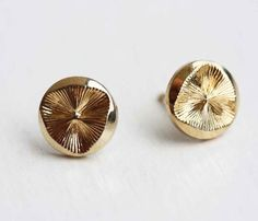 Gold Disc Studs
