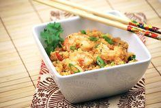 "Tasty Trials: ""Art"" and Chili-Garlic Quinoa with Shrimp"