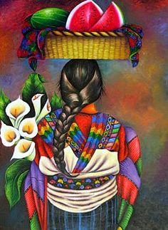 Mexican Artwork, Mexican Paintings, Mexican Folk Art, Guatemalan Art, Hispanic Art, Peruvian Art, Chicano Art, Chicano Tattoos, Latino Art