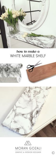 Weekly Tip: Furniture Makeovers with Marble Contact Paper