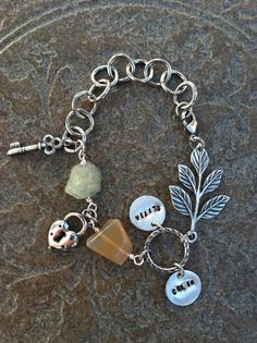 Additional Pendant for Hand Stamped Custom Bracelet or Necklace. $5.00, via Etsy.