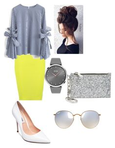 """""""Untitled #86"""" by emily-dowalter on Polyvore featuring Boohoo, Chicwish, Steve Madden, Tory Burch, BOSS Black and Ray-Ban"""