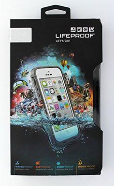 LifeProof FRE iPhone 5c Waterproof Case - Retail Packaging - WHITE/CLEAR…