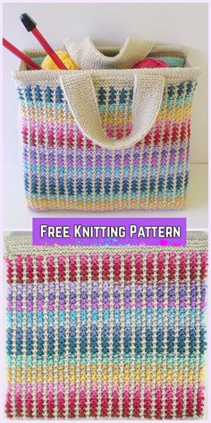 Knit Scrap Bag Free Knitting Pattern