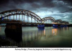The Riga Railway Bridge (photo by Jevgenijs Scolokovs), a finalist in the ASCE Bridges Photo Contest.