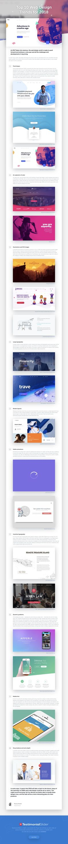 Top 10 Web Design Trends for 2018 - Website design - Design Web, Page Design, Blog Design, Design Ideas, Webdesign Inspiration, Website Design Inspiration, Design Trends 2018, Graphic Design Trends, Corporate Design