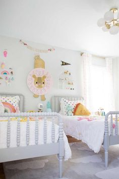 Shelf Styling And Details In The Girls Shared Room - Lay Baby Lay