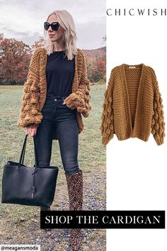 Winter Mode Outfits, Trendy Fall Outfits, Winter Fashion Outfits, Look Fashion, Chic Outfits, Autumn Winter Fashion, Womens Fashion, Chunky Cardigan, Winter Stil