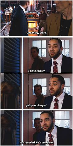 """[gifset] """"I am the one who carries you out of the fire. He is the one who lights it."""" 8x06 The Caretaker #DoctorWho"""
