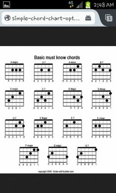 Printable Bass Guitar Chords | 4 String Bass Guitar Chord ...