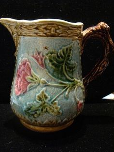 Lovely Estate Antique Beautiful French Majolica Milk Creamer Serving Jug Pitcher | eBay