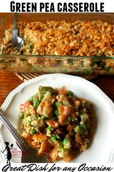 GREEN PEA CASSEROLE - The Southern Lady Cooks Pea Recipes, Side Dish Recipes, Cooking Recipes, Yummy Recipes, Cooking Tips, Vegetable Side Dishes, Vegetable Recipes, Cooking Vegetables, Green Peas