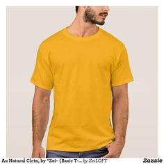Au Natural Clctn, by *Zei~ (Basic T-Shirt) GOLD T-Shirt