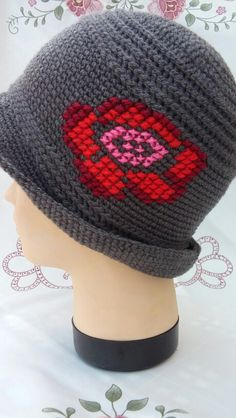 Cute and different crochet hat, inspiration only,by Prnic Georgeta.