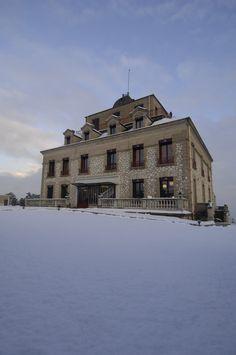 Le château sous la neige !