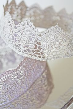 If you are looking for a beautiful detail to take your princess party to a whole new level, I recommend you try your hand at this princess lace crown DIY.