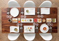 NewWave dinnerware table. A spectacular table set in seconds! Wonderful forms, fabulous functions.