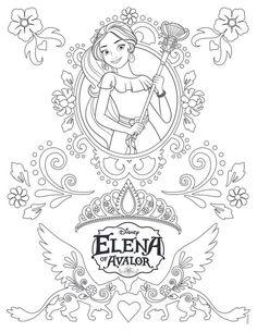 52 Meilleures Images Du Tableau Coloriage Elena Davalor Disney