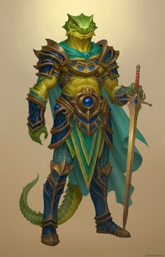 ArtStation - Lizard warrior, Bogdan Tomchuk