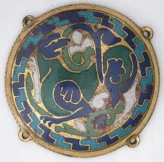 Quadruped (one of five medallions from a coffret). French ca 1110-1130
