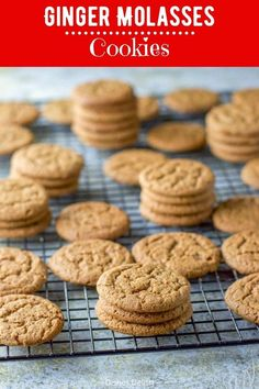 This ginger molasses cookies recipe is my all time favorite. They are satisfying, delicious and the perfect complement to your holiday cookie tray. Delicious Cookie Recipes, Dessert Cake Recipes, Easy Cookie Recipes, Sweets Recipes, Gourmet Recipes, Baking Recipes, Snack Recipes, Yummy Food, Desserts