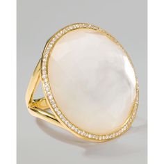 Ippolita 18k Gold Rock Candy Large Lollipop Diamond Mother-of-Pearl... ($3,295) ❤ liked on Polyvore