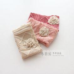 Handmade европейские девушки в стиле 2014 зима решетки алмаза крючком шарф трехмерные цветы