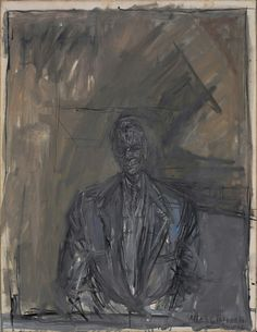 Alberto Giacometti, 'Portrait of G. David Thompson', 1955