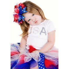 Posh hairbows | , 4th of July Hair Bows, Memorial Day Hair Bows, Red, White Blue Hair ...