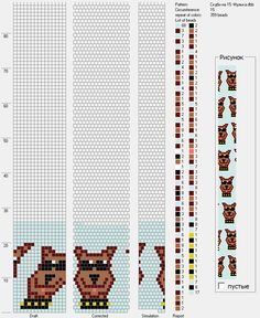 Узоры для вязаных жгутиков-шнуриков 11   biser.info - всё о бисере и бисерном творчестве