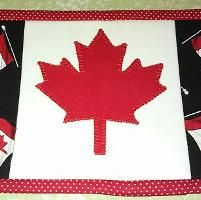 Canadian Flag (Maple Leaf) Mug Rug Canada Maple Leaf, Maple Leaves, Mug Rugs, Quilting, Mugs, Creative, Projects, Pattern, Art
