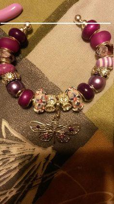 Pandora/Euro inspired bangle  bracelet by Customdesigns4ubyAmy
