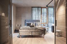 #einrichtung #interiordesign #raumgestaltung #schlafzimmer #boxspringbett #elegant #grau #weiß Interiordesign, Elegant, Lounge, Couch, Bed, Classic, Furniture, Home Decor, Chair
