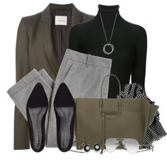 Black, Grey & Green by brendariley-1 on Polyvore featuring polyvore, fashion, style, Joseph, A.F. Vandevorst, J.Crew, Jigsaw, Balenciaga, Blue Nile and John Hardy