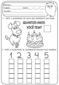 Atividades de Matemática 1° Ano para Imprimir  - Educacao infantil