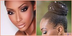 10 Makeup and Hairstyle Combos To Flaunt At A Winter Wedding | http://www.salongenie.net/blog/10-makeup-hairstyles-for-winter-wedding/