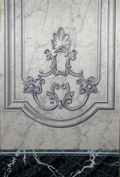 Copy of trompe loeil molding & ornament on marble - class panel 09160.jpg
