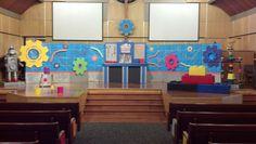 Workshop of Wonders VBS stage set up