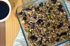 Baked Berry Power Oatmeal - by runningforrubies.com *21 Day Fix Approved!* *Clean*