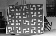 Grey quilt (in black and white)