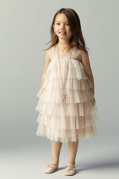 Classic Coral Ruched Chiffon Flower Girl Dress | BAT | Pinterest ...