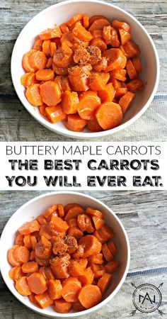 Buttery Maple Carrots - a healthy, gluten-free and paleo side dish or snack. Also the best carrots you will ever eat. Seriously.